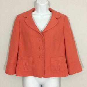 Ann Taylor Petites 10P Salmon 3 Button Suit Coat